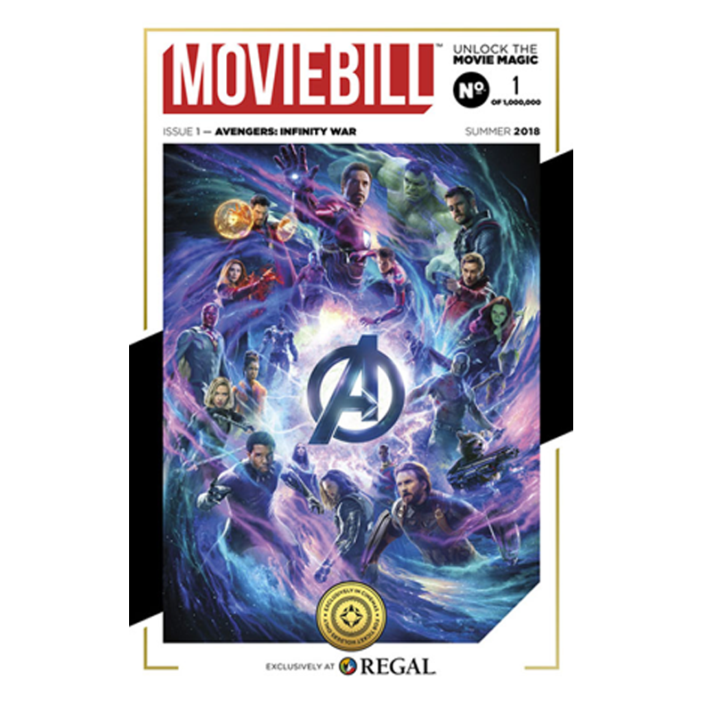 This is the cover for the Avengers: Infinity War issue of Moviebill.