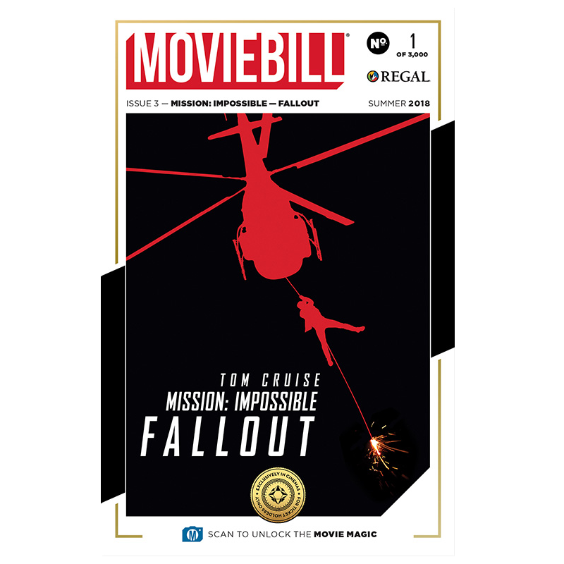 This is the cover to the Mission: Impossible - Fallout edition of Moviebill.