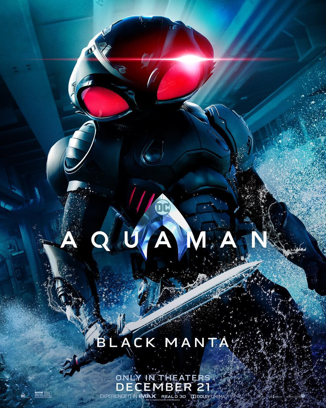 Check out the Black Manta movie poster for Aquaman!