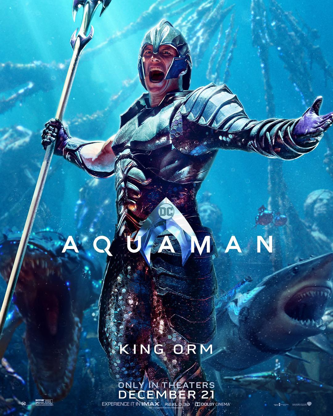 Explore seven different Aquaman movie posters.