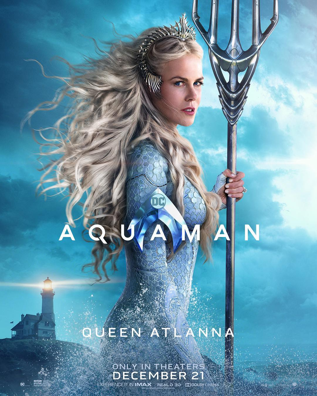 Nicole Kidman is Queen Atlanna on a new Aquaman character poster.
