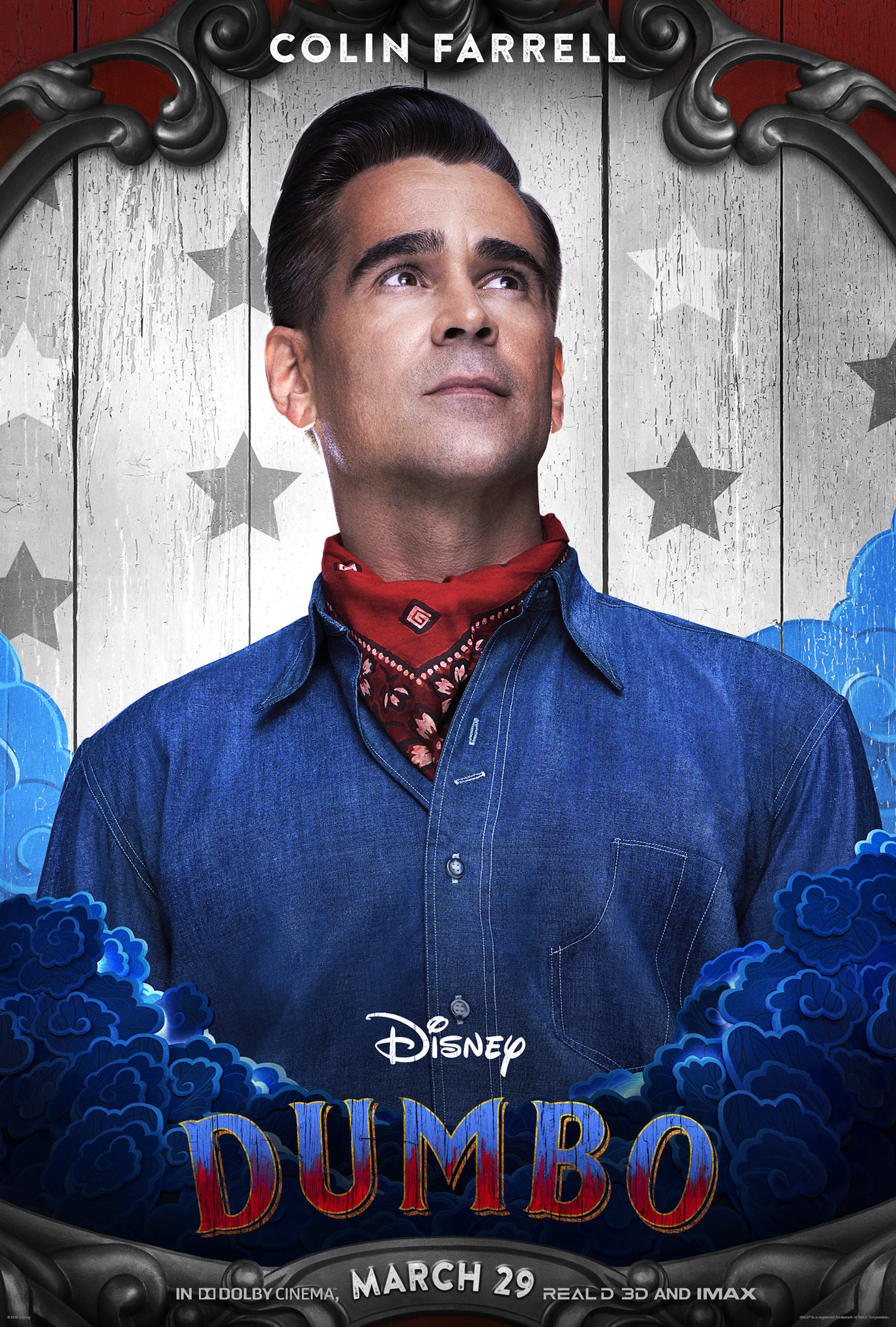 Colin Farrell stars in the new live action Disney Dumbo movie.