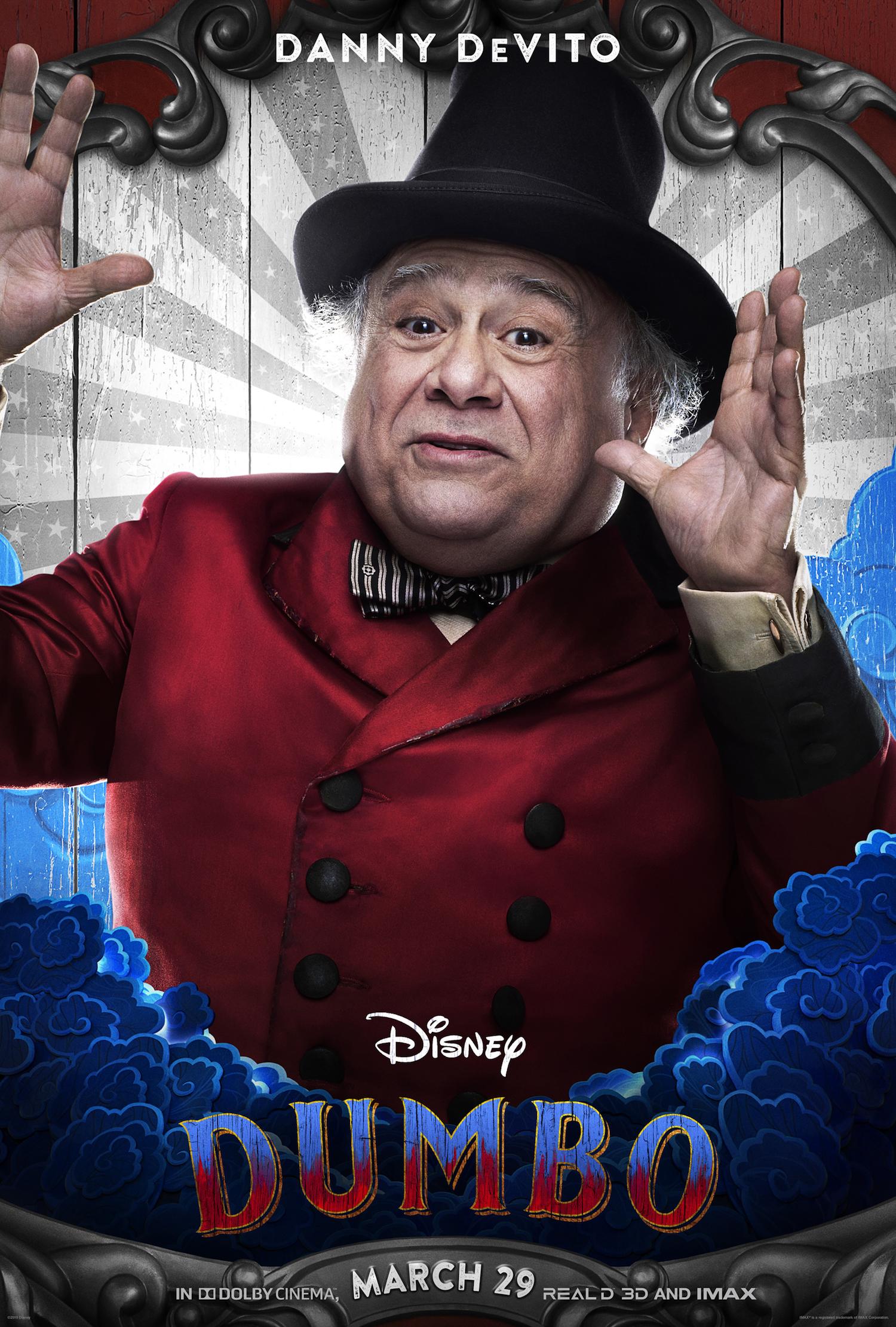 Danny Devito stars in the new live action Disney Dumbo movie.