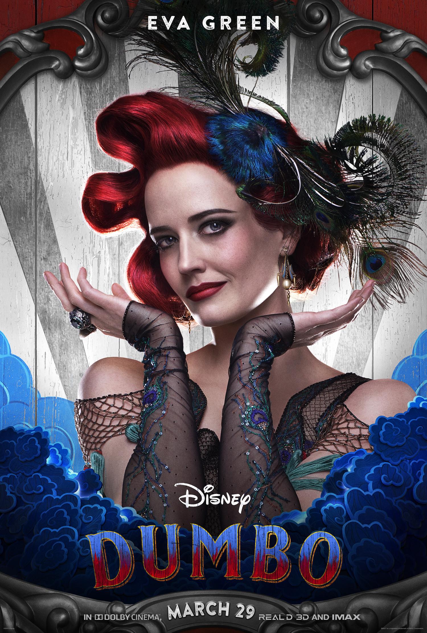Eva Green stars in the new live action Disney Dumbo movie.
