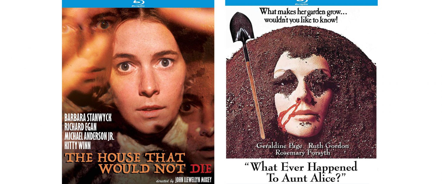 Kino has a pair of horror offerings this week with both The House That Would Not Die and Whatever Happened to Aunt Allen?