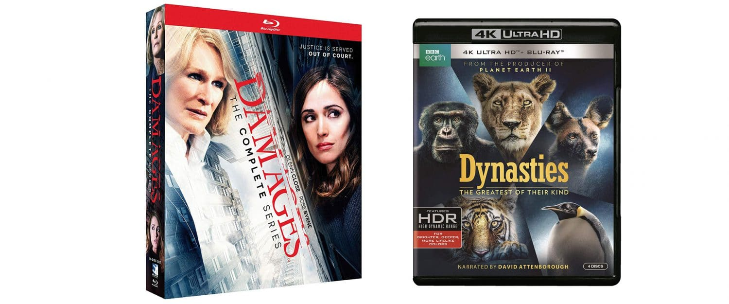 The Complete Damages and Dynasties are coming to blu-ray this week.