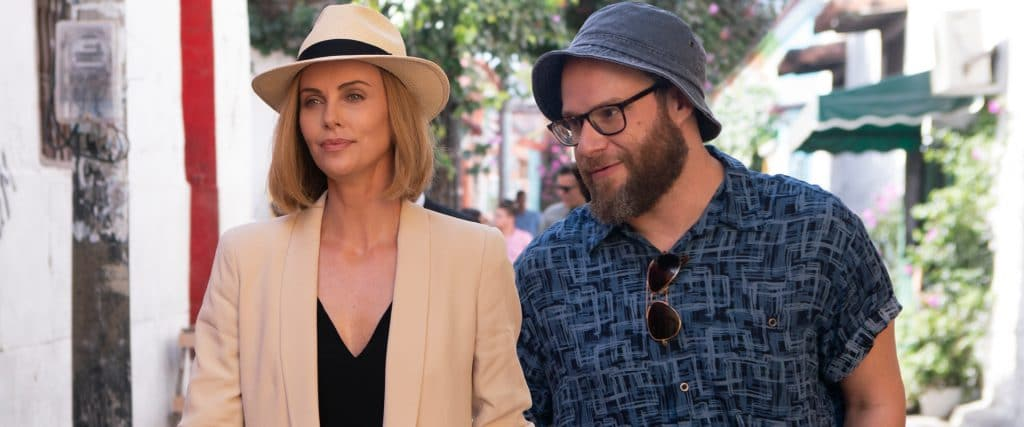 Seth Rogen and Charlize Theron team for the comedy Long Shot.