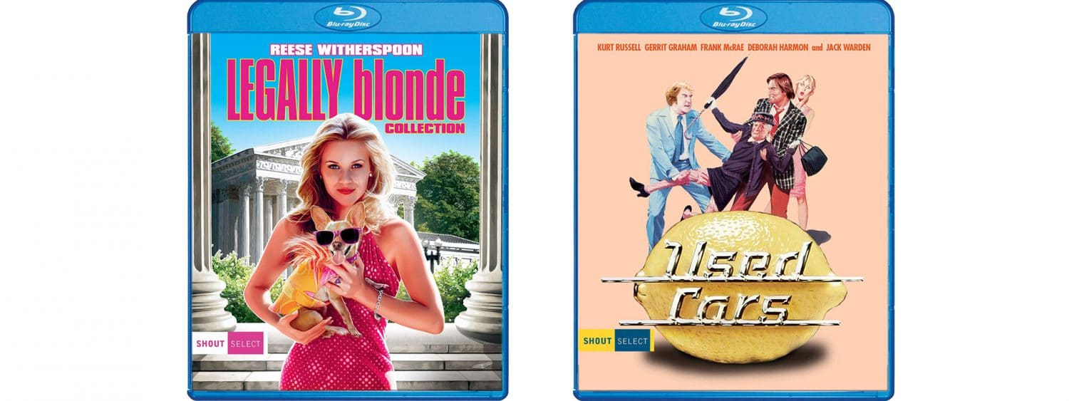 The Legally Blonde Collection and Used Cars arrive on Blu-ray this week from Shout! Factory's Shout Select label.