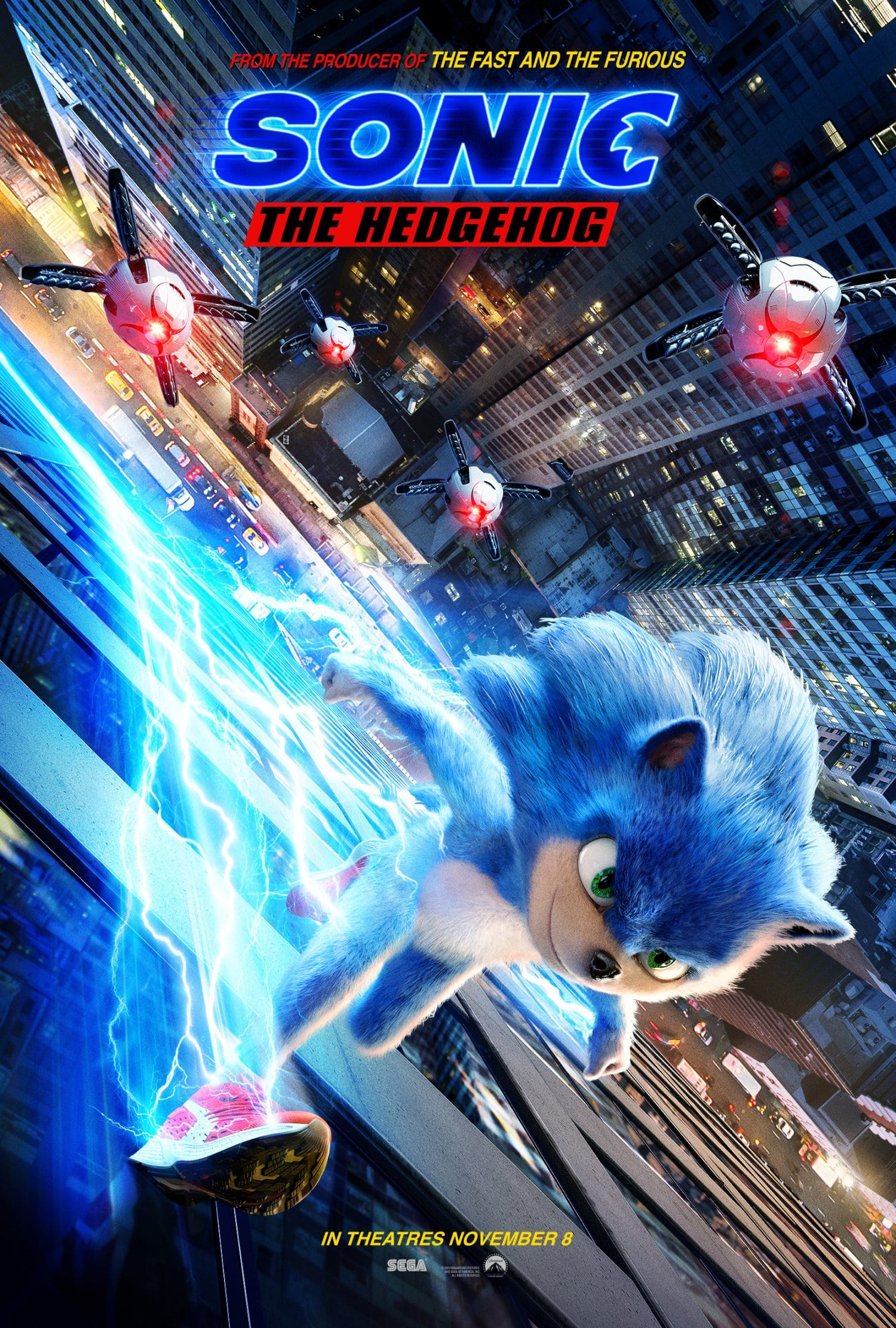 Take a look at the Sonic the Hedgehog movie poster.