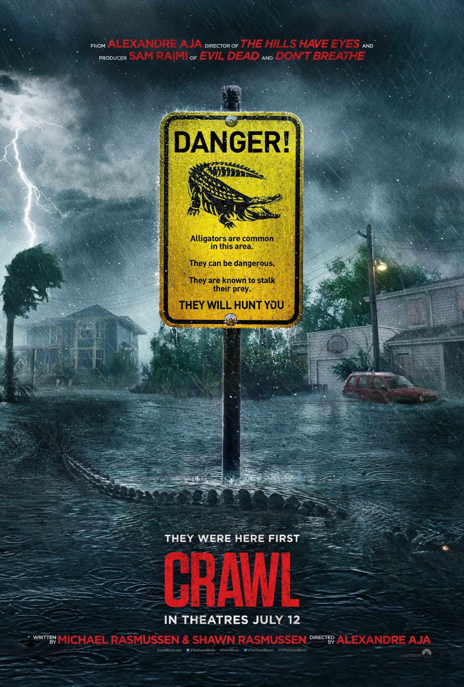 Watch the Crawl movie trailer for a look at the killer alligator thriller.